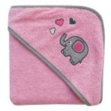 Prosop cu gluga Slumbersac Mama & Baby pink elephant