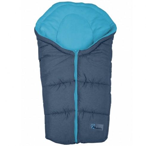 Sac de dormit Altabebe Alpin Line 75 cm Gri inchis Albastru