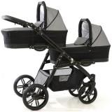 Carucior Pj Baby Pj Stroller Lux 3 in 1 grey
