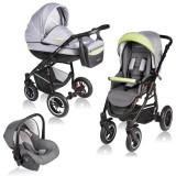 Carucior Vessanti Crooner 3 in 1 green gray