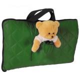 Sac de dormit camping Tuloko cu ursulet de plus verde