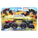 Set Hot Wheels by Mattel Monster Trucks Demolition Doubles Spiderman vs Hulk {WWWWWproduct_manufacturerWWWWW}ZZZZZ]