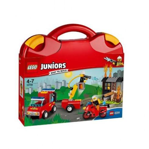 LEGO Juniors Valiza Patrula de Pompieri 10740
