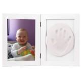 Kit mulaj amprenta Baby HandPrint Memory Frame white
