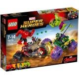 LEGO Marvel Super Heroes Hulk contra Hulk cel Rosu 76078