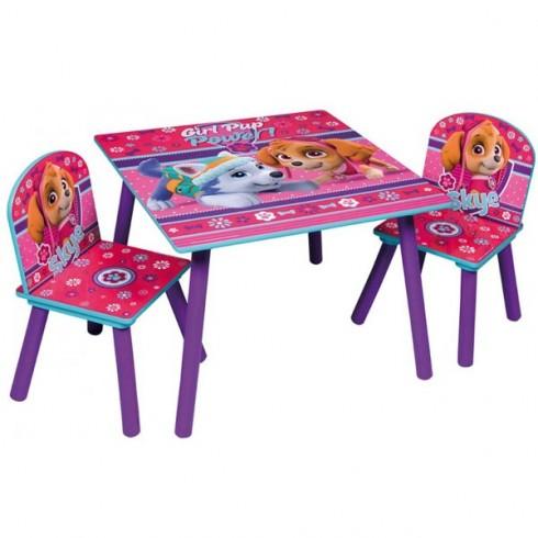 Set masuta si scaune Global Pink Paw Patrol