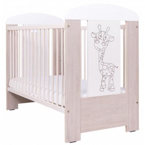 Patut copii din lemn Drewex Giraffe Santana culisabil120x60 cm