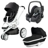 Carucior Quinny Moodd 3 in 1 black irony