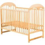 Patut copii din lemn Babyneeds Oskar 120x60 cm natur