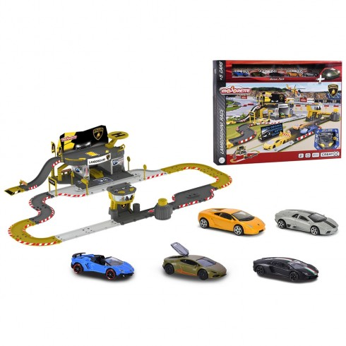 Pista de masini Majorette Creatix Lamborghini Race cu 5 masinute {WWWWWproduct_manufacturerWWWWW}ZZZZZ]