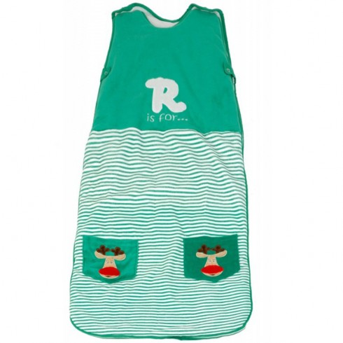 Sac de dormit The Dream Bag Green Reindeer 0-6 luni 2.5 Tog