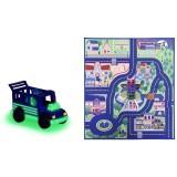 Covoras de joaca Dickie Toys Eroi in Pijama cu masina {WWWWWproduct_manufacturerWWWWW}ZZZZZ]