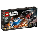 LEGO Star Wars A-Wing contra TIE Silencer Microfighters 75196