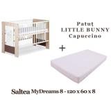 Patut Klups Little Bunny capuccino si Saltea MyDreams 120x60x8 cm