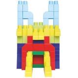 Set Ecoiffier Abrick 100 cuburi colorate