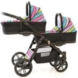 Carucior Pj Baby Pj Stroller Lux 3 in 1 multicolor