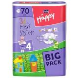 Scutece Happy 4 big pack maxi 70 buc pentru 8-18 kg