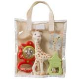 Set jucarii Vulli cu saculet girafa Sophie