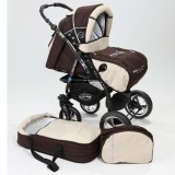 Carucior Baby Merc Junior Plus 2 in 1 Brown beige