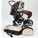 Carucior Baby Merc Junior Plus 2 in 1 Brown beige