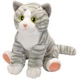 Jucarie de plus Wild Republic Pisica vargata Gri Alb 30 cm