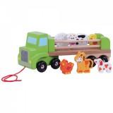 Jucarie Jumini Camion de ferma cu animale