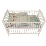 Lenjerie patut MyKids 3 piese Bear On Moon Mint 120x60