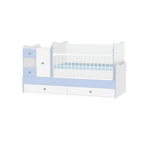 Patut modular Bertoni - Lorelli Mini Max white & blue