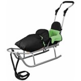 Sanie Baby Dreams Rider Plus cu Sac Speedy verde