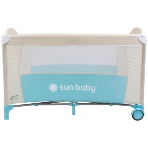 Patut pliabil cu un nivel Sun Baby Sweet Dreams turcoaz