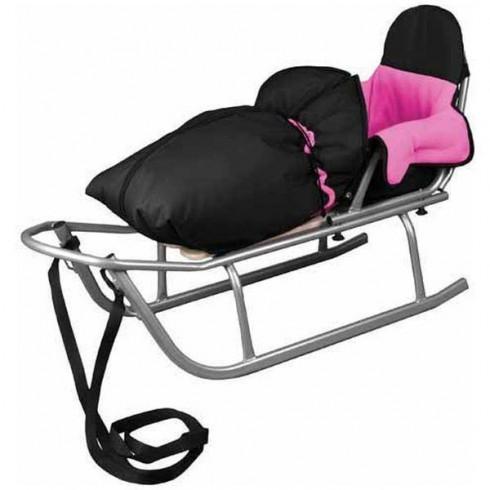 Sanie Baby Dreams Rider cu Sac Speedy roz