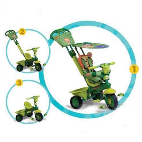 Tricicleta Fisher Price Royal 3 in 1 verde