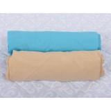 Set 2 x Cearsaf BabyNeeds cu elastic 120x60 cm bleu cappucino