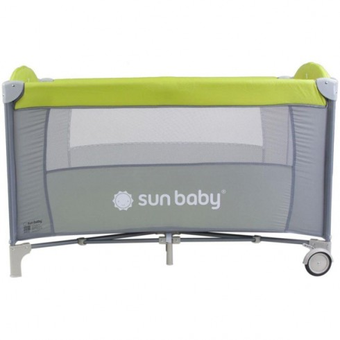 Patut pliabil cu un nivel Sun Baby Sweet Dreams verde