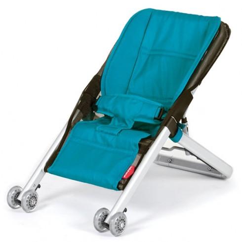 Scaunel balansoar Babyhome Onfour albastru turquoise