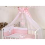 Baldachin din tul Amy Bear Heart 160 x 600 cm pink