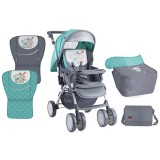 Carucior Bertoni - Lorelli Combi green & grey friends