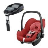 Pachet Scaun auto Maxi Cosi Pebble red rumour cu baza auto Familyfix