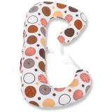 Perna de alaptat BabyNeeds Soft Plus 3 in 1 cerculete maro