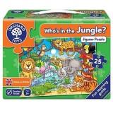 Puzzle cu activitati Orchard Toys Cine este in jungla
