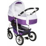 Carucior Pj Baby Pj Stroller Comfort 3 in 1 white purple