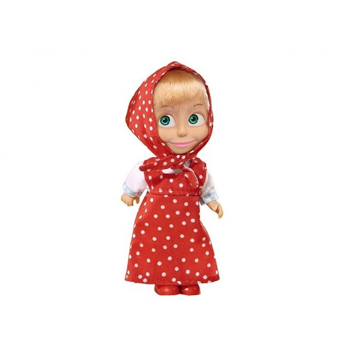 Papusa Simba Masha and the Bear 12 cm Masha in rochie rosu