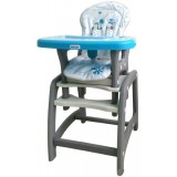Scaun de masa Baby Mix Hello 2 in 1 blue dog