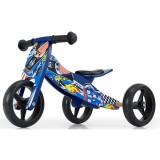 Bicicleta fara pedale Milly Mally Jake tranformabila blue cars