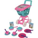 Carucior cumparaturi Ucar Toys cu 17 piese bucatarie