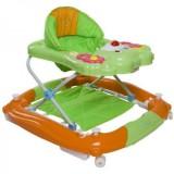 Premergator cu sistem de balansare Sun Baby Ursulet orange cu verde