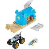 Pista de masini Hot Wheels by Mattel Monster Truck Pit and Launch Shark Wreak cu 2 masinute {WWWWWproduct_manufacturerWWWWW}ZZZZZ]