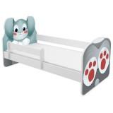 Patut MyKids Animals Rabbit 140x70 cu Saltea