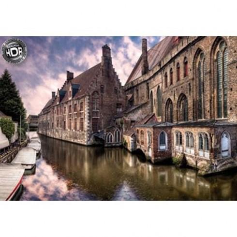 Puzzle Educa Orasul Bruges Belgia 1500 piese