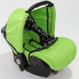 Scaun auto Baby Merc Junior green flowers